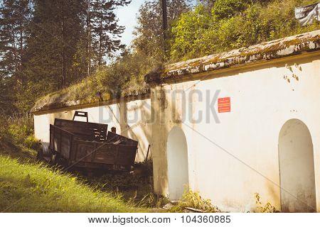 Rusty car ZIL on the Fort Krasnaya Gorka