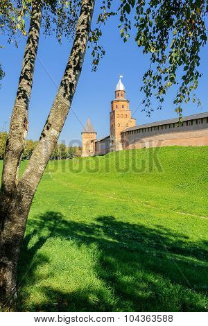 Tower Kokui And Tower Of Intercession, Novgorod Kremlin