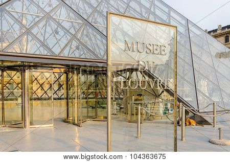 Paris - SEPTEMBER 18, 2012: Louvre Museum on September 18 in Paris, France. Louvre Museum is a popular tourist attraction in Paris