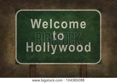Welcome to Hollywood Roadsign Illustration