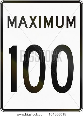 Speed Limit 100 In Canada