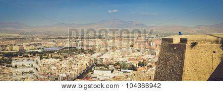 panorama of the city of Alicante