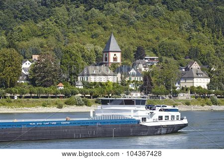 Remagen - River Rhine With Ship