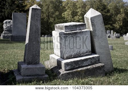 Angled Headstones - Subtle Colors