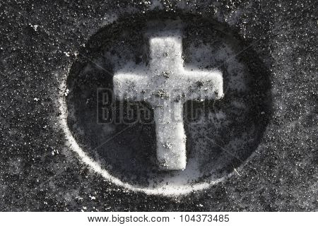 Small Cross in a Cemetery
