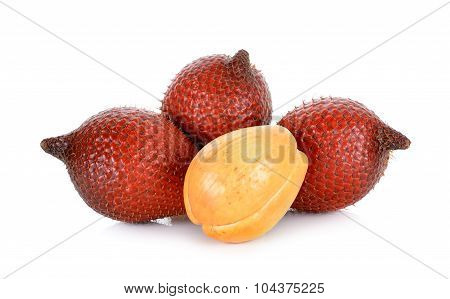 Salak Fruit, Salacca Zalacca Isolated On The White Background