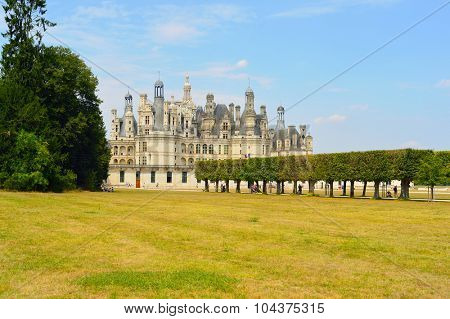 Chateau de Chambord, royal medieval french castle. Loire Valley, France, Europe. Unesco World heritage site.
