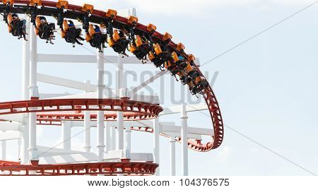 Funny People Playing Roller Coaster