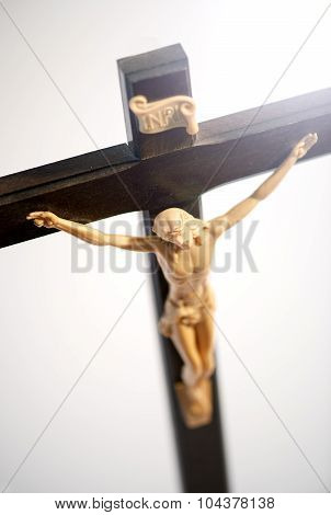Crucified Christ On The Cross Closeup Detail