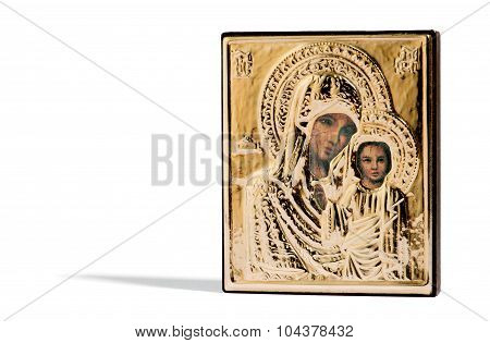 Painted Wooden Religious Icon