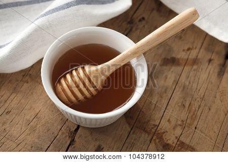 Honey Dipper Delicious Sweet Healthy Still Life Closeup