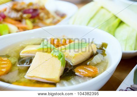 Soya Bean Curd Soup, Food For Health Concept