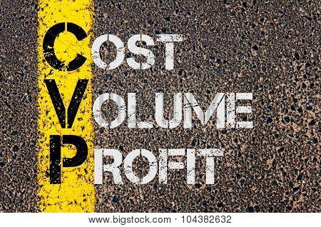 Business Acronym Cvp As Cost Volume Profit