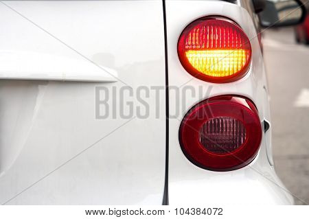 Car. Flashing turn signal