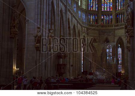 Gothic cathedral of Saint Vitus - The rotunda of St. Vitus, Prague