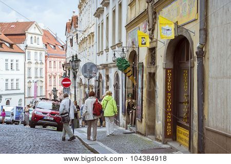District Mala Strana Prague's old town