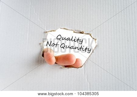 Quality Not Quantity Text Concept