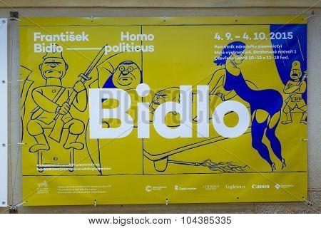 poster Bidlo - a humorous sign