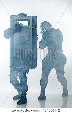 Police officers SWAT