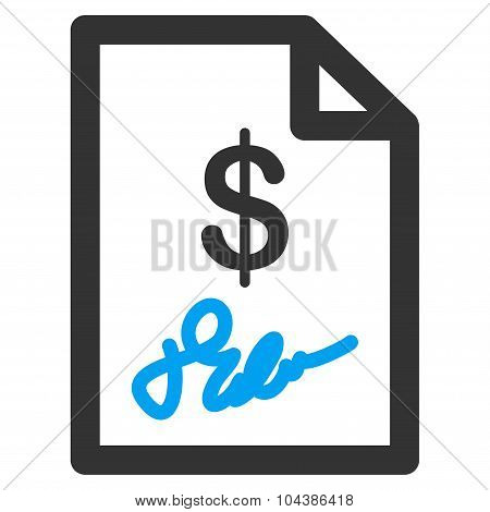 Signed Invoice Icon