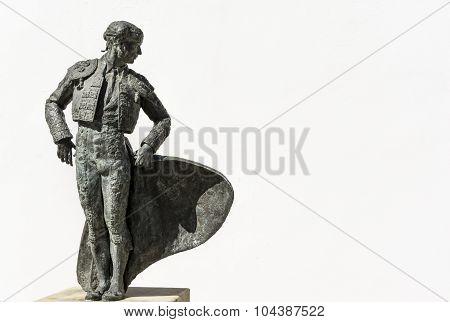 Torero or bullfighter statue in Spain