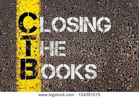 Business Acronym Ctb As Closing The Books