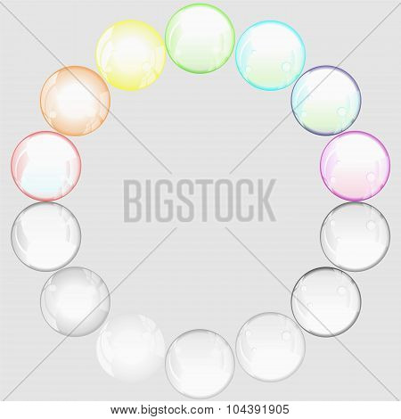 Transparent Soap Bubble-stock Vector