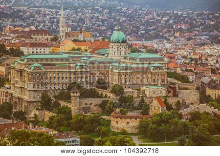 The Buda Castle of Budapest, Hungary