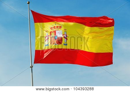 Big Spain Flag Waving