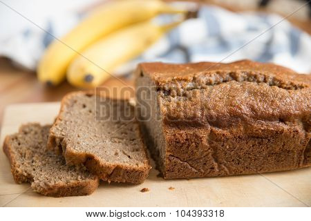 Home made Banana bread loaf