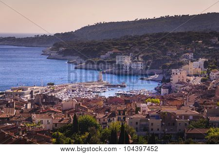 Rooftop Of Cassis City, France