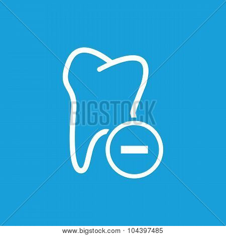Remove tooth icon, white