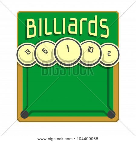 Background images for text on the subject of billiard