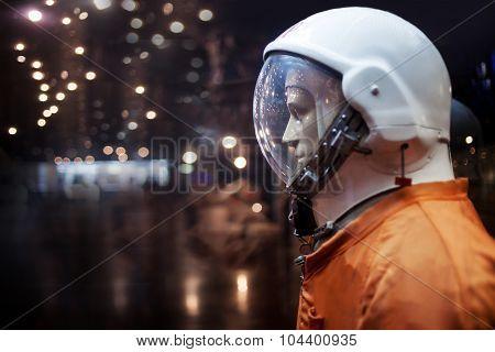 Soviet cosmonaut dummy in the suit,  Museum of cosmonautics