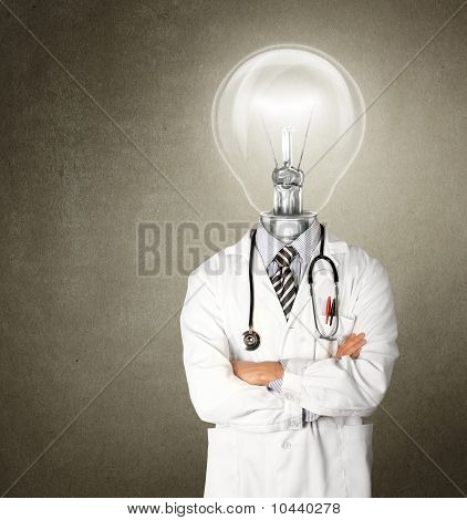 Doctor With Lamp-head