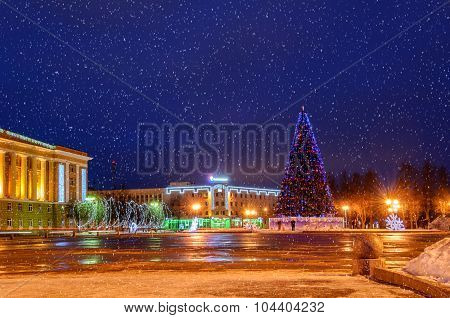 Sofia Square During The New Year Holidays, Russia