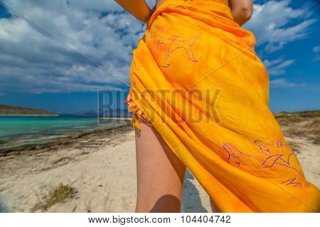Orange sarong