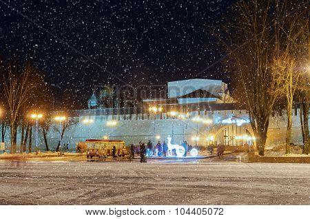 Winter Evening In The Novgorod Kremlin
