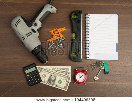 Drill with money
