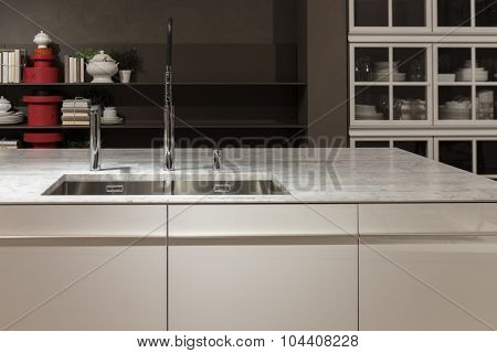 Marble Top Kitchen Sink