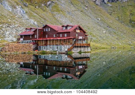 Balea Lake Chalet On Transfagarasan, Transylvania, Romania