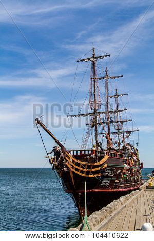 Pirate galleon in Sopot