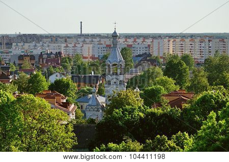View Of The Veliky Novgorod From A Height