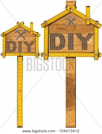 Diy Signs With Wooden Ruler