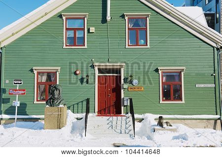 Exterior of the Polar museum building in Tromso, Norway.