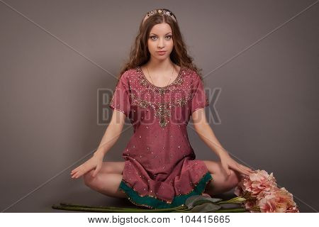 Girl In A Lotus Position