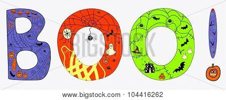 Halloween BOO vector illustration
