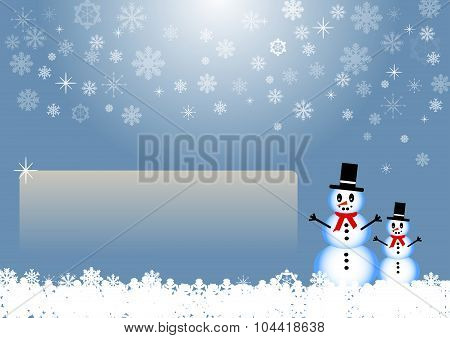 Winter card with empty place for your