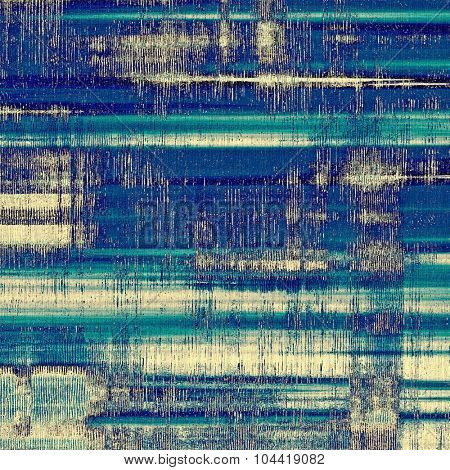 Dirty and weathered old textured background. With different color patterns: yellow (beige); blue; gray; cyan