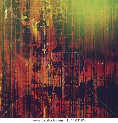 Old ancient texture, may be used as abstract grunge background. With different color patterns: brown; green; red (orange); black